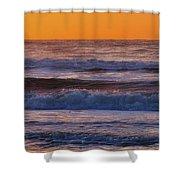 Wildwood Beach Golden Sky Shower Curtain