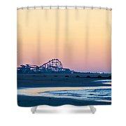 Wildwood Beach Panorama Shower Curtain