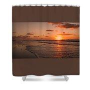 Wildwood Beach Sunrise II Shower Curtain