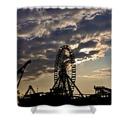 Wildwood Rides Shower Curtain