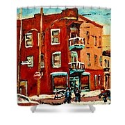 Wilenskys Hockey Art Paintings Originals Commissions Prints Montreal Deps Street Art Carole Spandau  Shower Curtain