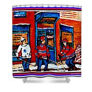 Wilenskys Hockey Art Posters Prints Cards Originals Commission Montreal Paintings Contact C Spandau Shower Curtain