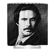 Will Ferrell Anchorman The Legend Of Ron Burgundy Drawing Shower Curtain
