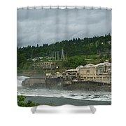 Willamette Falls River Scene  Shower Curtain