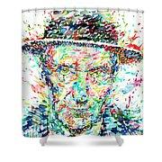William Burroughs Watercolor Portrait Shower Curtain