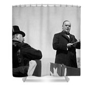 William Mckinley Making His Inaugural Address Shower Curtain by War Is Hell Store