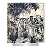 William Penns Treaty With The Indians Shower Curtain