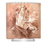William Shatner As Denny Crane In Boston Legal Shower Curtain