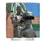 Williams And The Boy Shower Curtain by Barbara McDevitt