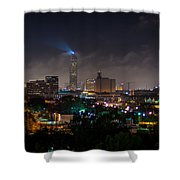 Williams Tower Beacon Shower Curtain