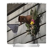 Williamsburg Bird Bottle 1 Shower Curtain by Teresa Mucha
