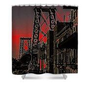Williamsburg Bridge Abstract Shower Curtain