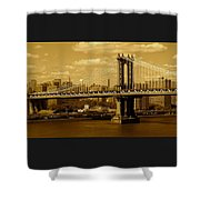 Williamsburg Bridge New York City Shower Curtain