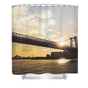 Williamsburg Bridge - Sunset - New York City Shower Curtain