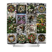 Williamsburg Christmas Collage Squared 2 Shower Curtain