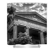 Williamson County Courthouse Bw Shower Curtain