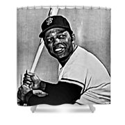 Willie Mays Painting Shower Curtain