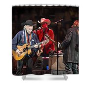 Willie Nelson - Live In Austin Shower Curtain