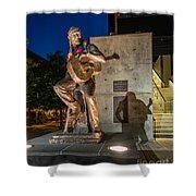 Austin Willie Nelson Statue Shower Curtain