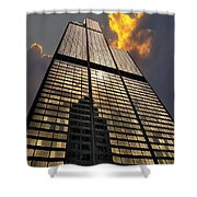 Willis Sears Tower Shower Curtain