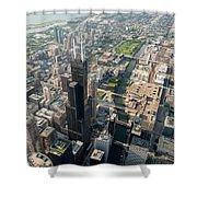 Willis Tower Southwest Chicago Aloft Shower Curtain