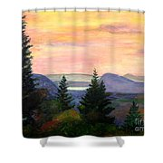 Willoughby Gap From Burke Mountain Shower Curtain