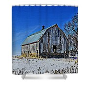 Willow Barn Painting Shower Curtain