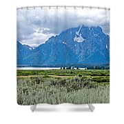 Willow Flats Overlook In Grand Teton National Park-wyoming   Shower Curtain