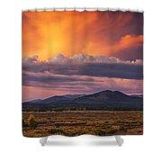 Willow Flats Sunset Shower Curtain
