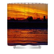 Willow Rd Sunset 2.27.2014 Shower Curtain