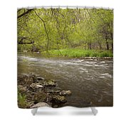 Willow River 3 Shower Curtain