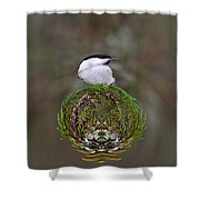 Willow Tits Planet Shower Curtain