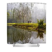 Willow Tree At The Pond Shower Curtain