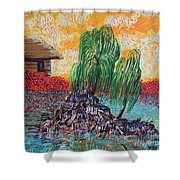 Willow Tree Isle Shower Curtain