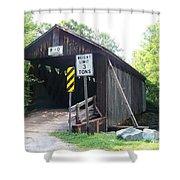 Willowemoc Covered Bridge Shower Curtain