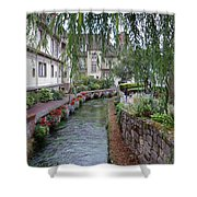 Willows Over The River Shower Curtain