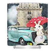 Willy The Wabbit Urrr I Mean Rabbit Shower Curtain