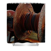 Winch - Cable - Crank - Boats Shower Curtain