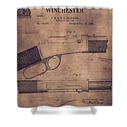 Winchester Rifle Patent Shower Curtain