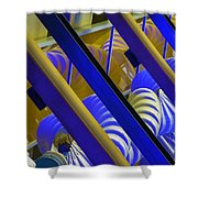 Wind Abstract No2 Horz Shower Curtain