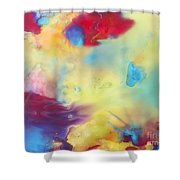 Wind Abstract Painting Shower Curtain