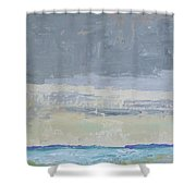 Wind And Rain On The Bay Shower Curtain