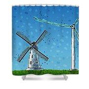 Wind Blows Shower Curtain