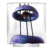 Wind Chime 8 Shower Curtain by Sharon Cummings