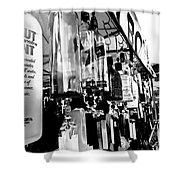 Wind Chime B W Version Shower Curtain