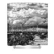 Wind Dancer Palm Springs Shower Curtain by William Dey