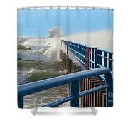 Wind-driven Lake Shower Curtain