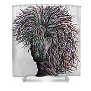 Wind Shower Curtain by Eloise Schneider