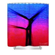 Wind Energy Abstract Shower Curtain