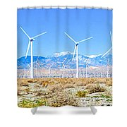 Wind Farm Palm Springs Shower Curtain